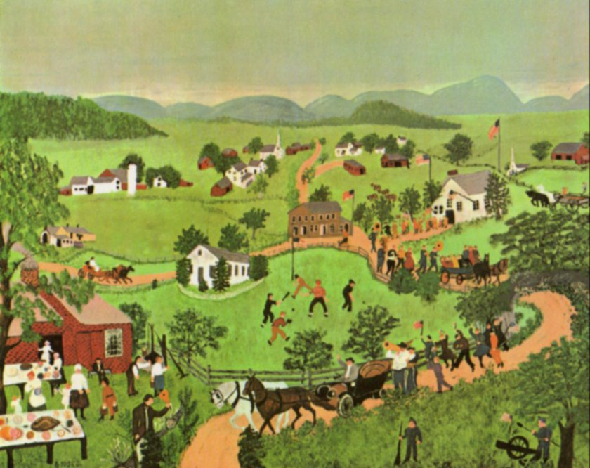 July Fourth by Grandma Moses
